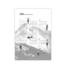 [옵티크] 2021SS Calender Poster set