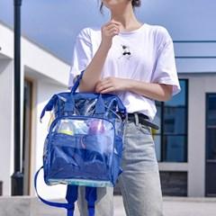 스퀘어 보온보냉 포켓 백팩(블루)