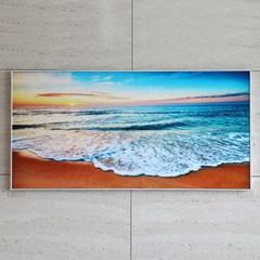 풍수 인테리어 벽걸이 액자 아침바다파도 90cm X 45cm
