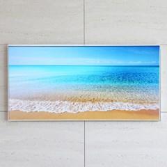 풍수 인테리어 벽걸이 액자 푸른바다파도 90cm X 45cm