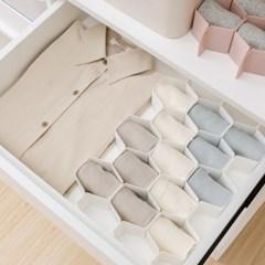 맞춤 정리 서랍 칸막이 속옷 양말 정리함 8개세트 4color