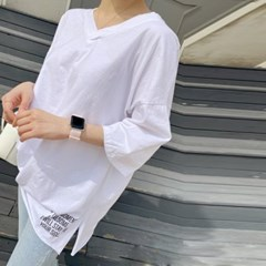 이너로도좋아 브이넥 레터링 루즈핏 티셔츠(tee953)_(1911858)