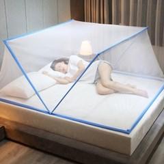원터치 접이식 폴딩모기장 침대모기장