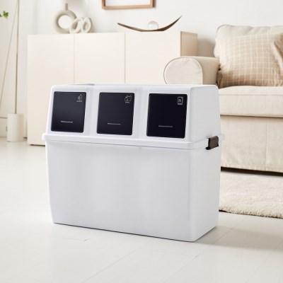 에코담 3단 가정용 재활용 분리수거함
