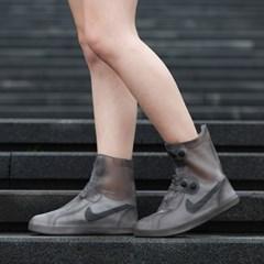 실리콘 신발방수커버 레인슈즈(블랙)