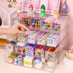 다꾸용품 펜정리함 아크릴정리함 펜꽂이 연필꽂이 투명서랍