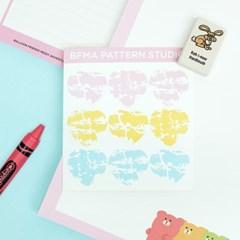 BFMA 마블패턴 하트 스티커 - 핑크