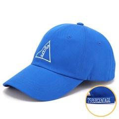 25P 트라이앵글 로고 오버핏 볼캡 [블루]