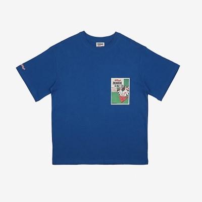 [켈로그] KELLOGG(AP) 블루 반팔티셔츠/커플티셔츠/남녀공용티셔츠 (