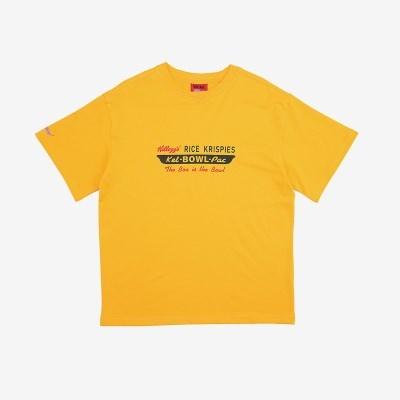 [켈로그] KELLOGG(AP) 옐로우 반팔티셔츠/커플티셔츠/남녀공용티셔츠