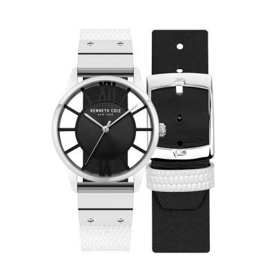 케네스콜 여성 양면 가죽밴드 손목시계 KCWLA2106001