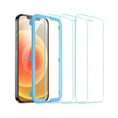 ESR 아이폰12/12프로 가이드 풀커버 강화유리 3팩