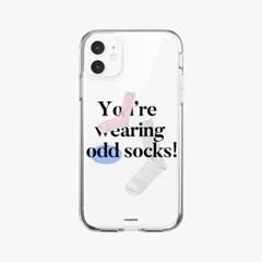 odd socks clear jelly case