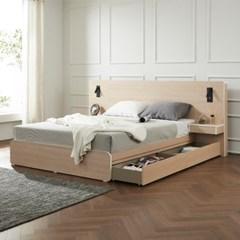트리빔하우스 에리스 라텍스탑 서랍형 침대 Q + 협탁 1EA_TB21F114