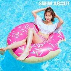 스윔어바웃 대형 딸기 도넛 튜브 120CM
