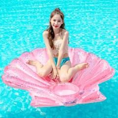 스윔어바웃 대형 핑크 조개 튜브 140CM