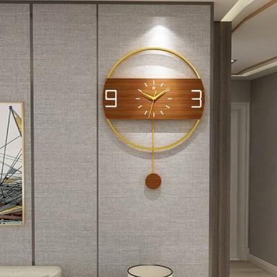 고급스러운 인테리어 원형 벽시계 독특한 모던 디자인 포인트 소품