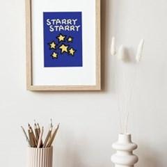 Starry Starry 반짝반짝 밤하늘 A3 Poster
