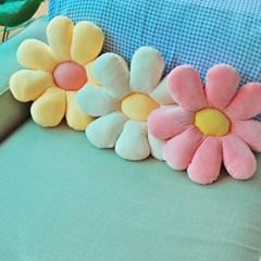 데이지 꽃 쿠션 방석(3컬러)
