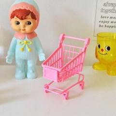 핑크 쇼핑카트 미니어처