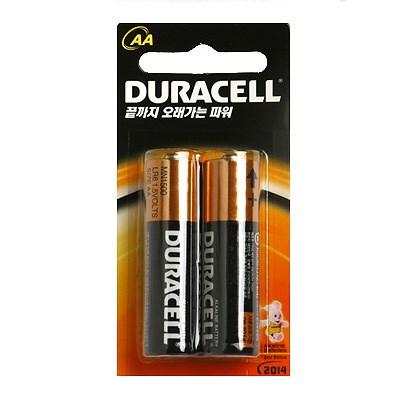 듀라셀 AA 알카라인 건전지 1.5V (AA size/LR6) -2알 / DURACELL AA