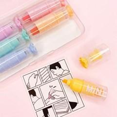 [맙소사잡화점] 은은한 색감 미니 형광펜 6종 세트