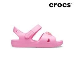 [크록스] 키즈 크로스 스트랩 샌들 핑크 206245-669