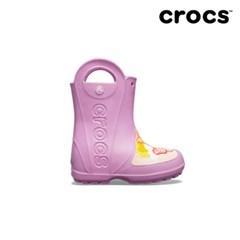 [크록스] 키즈 펀랩 버터플라이 레인부츠 핑크 205650-508