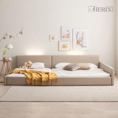 더릭스홈 코지 레이어 LED 저상형 패밀리 침대프레임 SS+Q