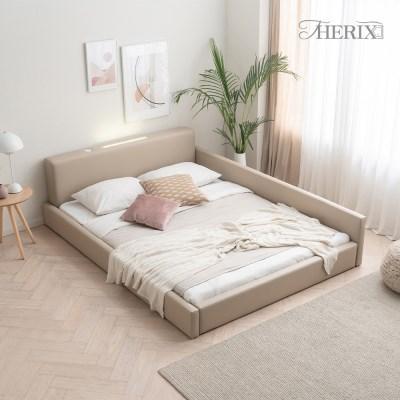 코지 레이어 LED 조명 한쪽가드형 저상형 침대프레임 슈퍼싱글/퀸