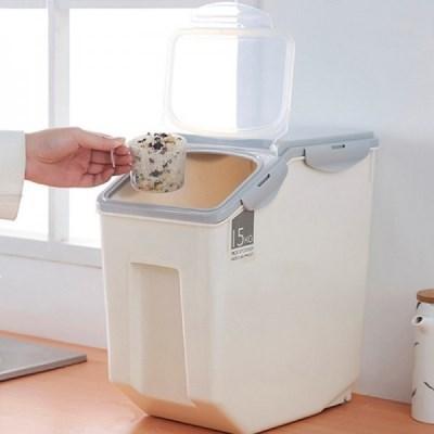 FT 디모트 오픈캡 모노 쌀통 그레이 15KG