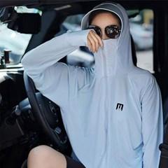 여성 여름 바람막이 운동복 아이스 실크 후드집업