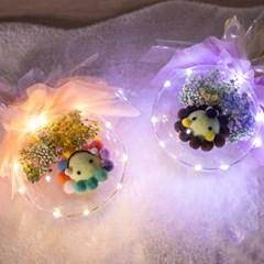 LED애니멀벌룬꽃다발 30cmP 조화 꽃 축하 선물 FMBBFT