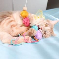 개달당 문고리 딸랑이 캣닢 고양이장난감