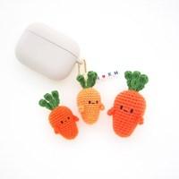 손뜨개 당근 야채 채소 키링 휴대폰줄 인형