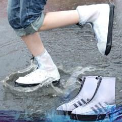 방수 신발커버 빗물지퍼 투명장화 레인슈즈
