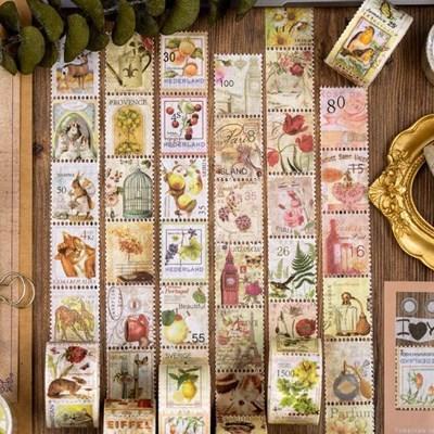 빈티지 우표 마스킹테이프 (8종)