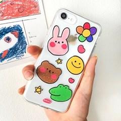 [젤리케이스 색연필친구들]아이폰8 하드케이스 갤럭시케이스 s20FE