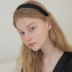 shirring satin hairband (6colors)