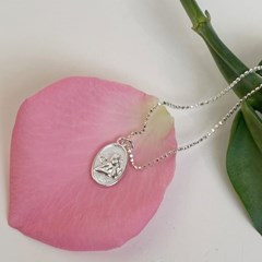 oval cupid necklace