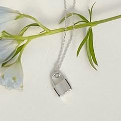 simple lock necklace
