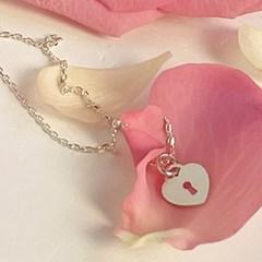 mini heart lock necklace