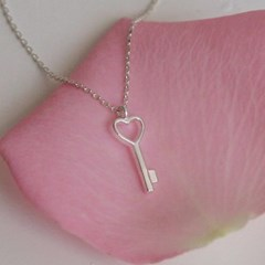 heart key necklace