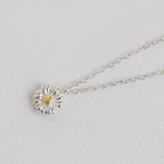 silver 925 daisy necklace