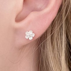 silver 925 cherry blossoms earrings