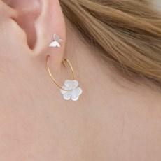 clover ring earrings