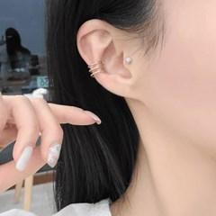 926 실버 이어커프 귀걸이 이어링 데일리 3링