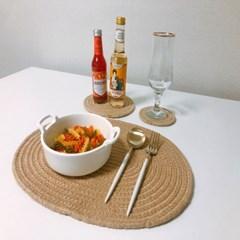 디아르 코튼 원형 식탁매트 테이블매트 다용도받침대 핸드메이드