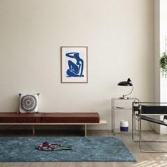 벨기에 AW 글로스 수입 카페트 거실 러그(블루200x300)