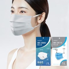 [KF94급] 숨쉬기편한 비말차단 일회용 덴탈 마스크 3중필터 국내배송